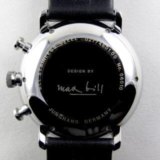 Junghans Max Bill Chronoscope Ref. 027/4601.00 steel chronograph wristwatch