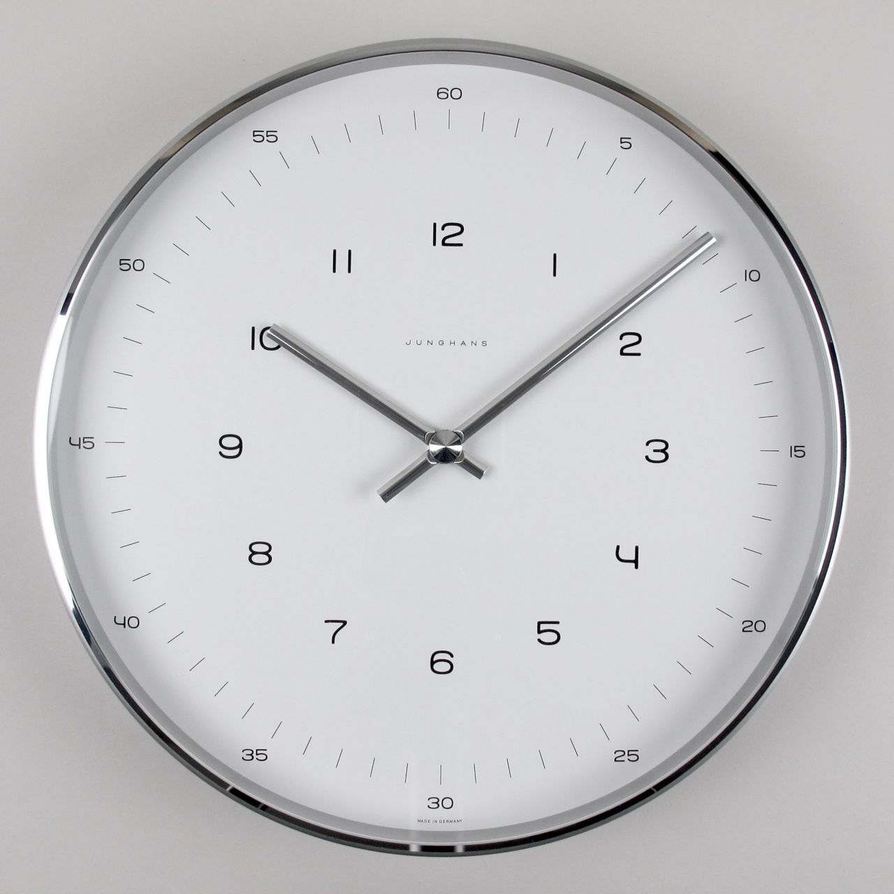 Junghans Max Bill Ref. 367/6047.00 aluminium clock