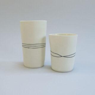 Justine Allison Handmade Porcelain Horizontal Line Vessel By Justine Allison Jahlv1 3