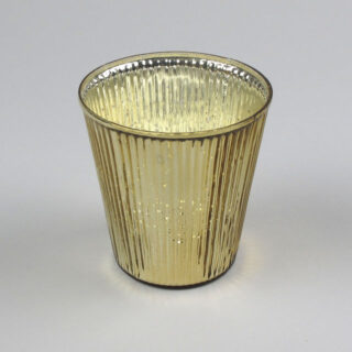 Large ribbed metallic votive