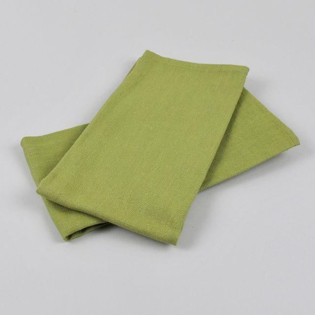 Leaf Green 100% Linen Napkin - handmade in Ludlow