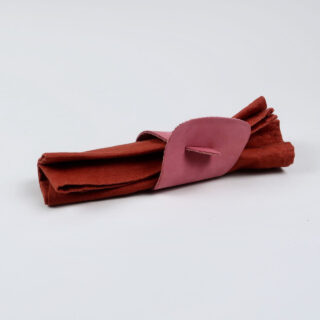 Leather and Suede Napkin Rings