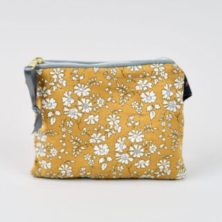 Liberty Print Fabric Purse - Capel Mustard