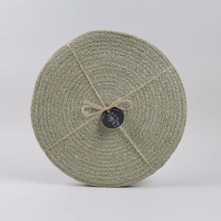 Set of 4 Woven Jute Placemats - Limpid Green