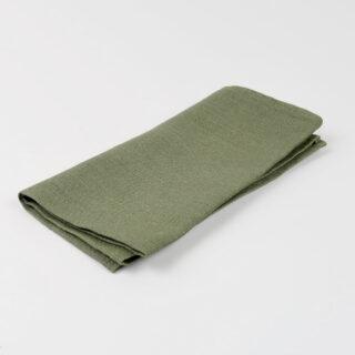 Drab Green 100% Linen Napkin - handmade in Ludlow