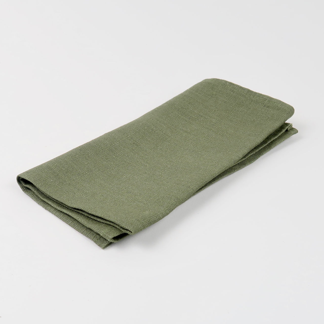 Drab Green 100% Linen Napkin - handmade in Ludlow