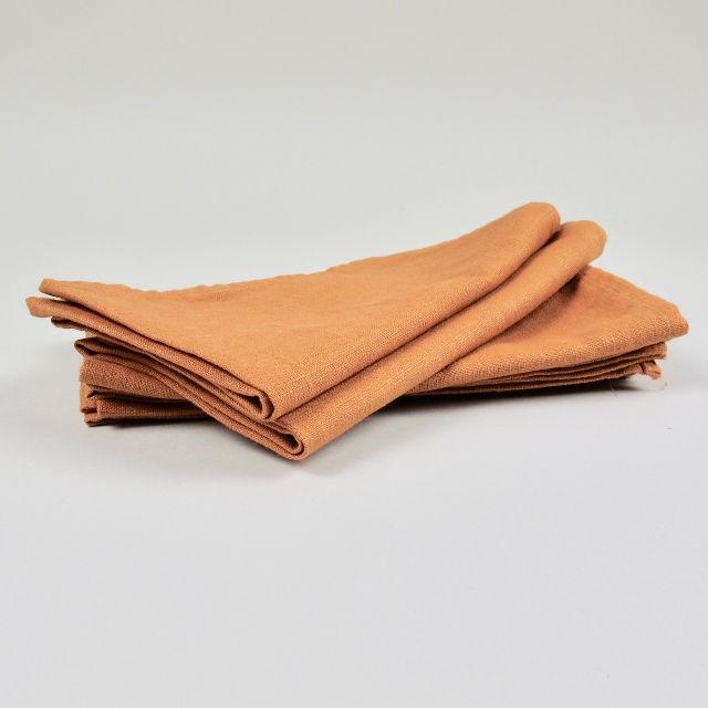 Terracotta 100% Linen Napkin - Handmade in Ludlow
