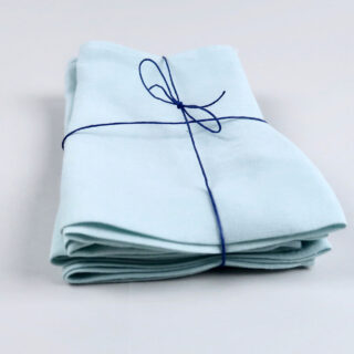 Pale Turquoise 100% Linen Napkin - handmade in Ludlow
