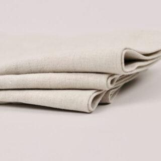 Oatmeal 100% Linen Napkin - handmade in Ludlow