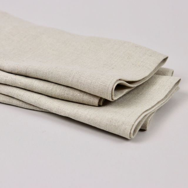 Oatmeal 100% Linen Napkin - handmade in Ludlow