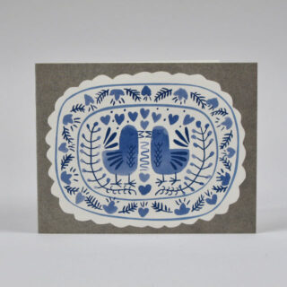 Bluebirds Card by Lisa Jones Studio