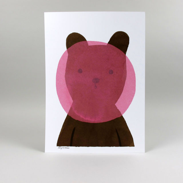 Bubblegum Bear Print