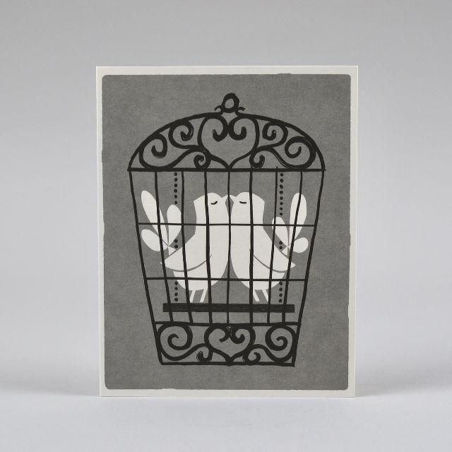 Lovebirds Card by Lisa Jones Studio