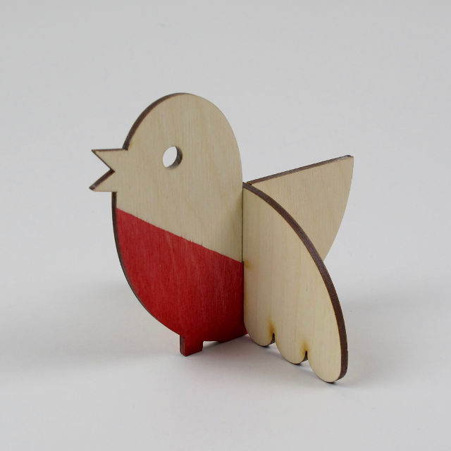 Plywood Dip-Dyed Robin