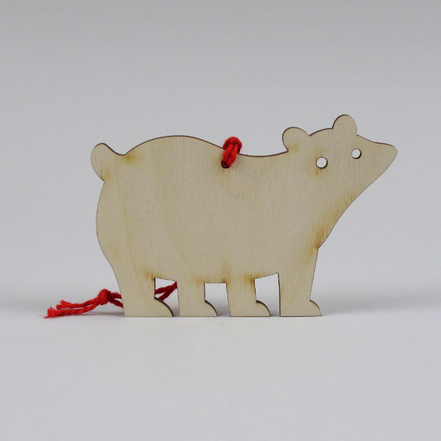 Laser Cut Polar Bear Bauble