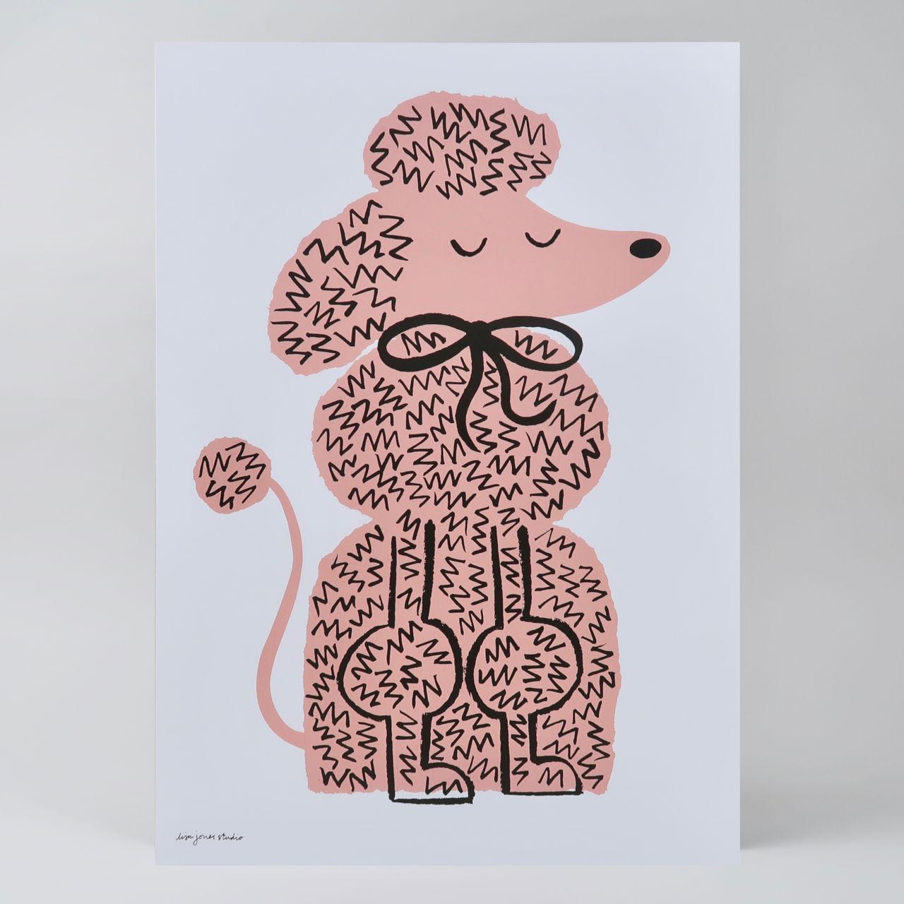 Pink Pooch Print