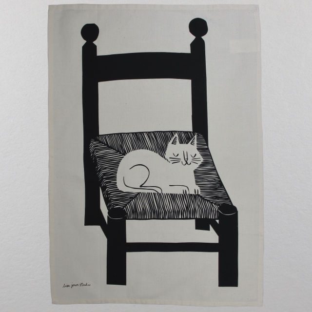 Cat Nap Tea Towel