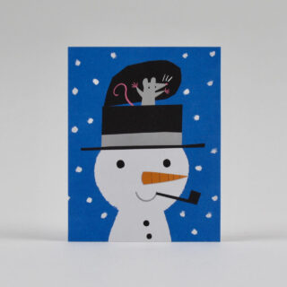 Snowman Surprise Card by Lisa Jones Studio