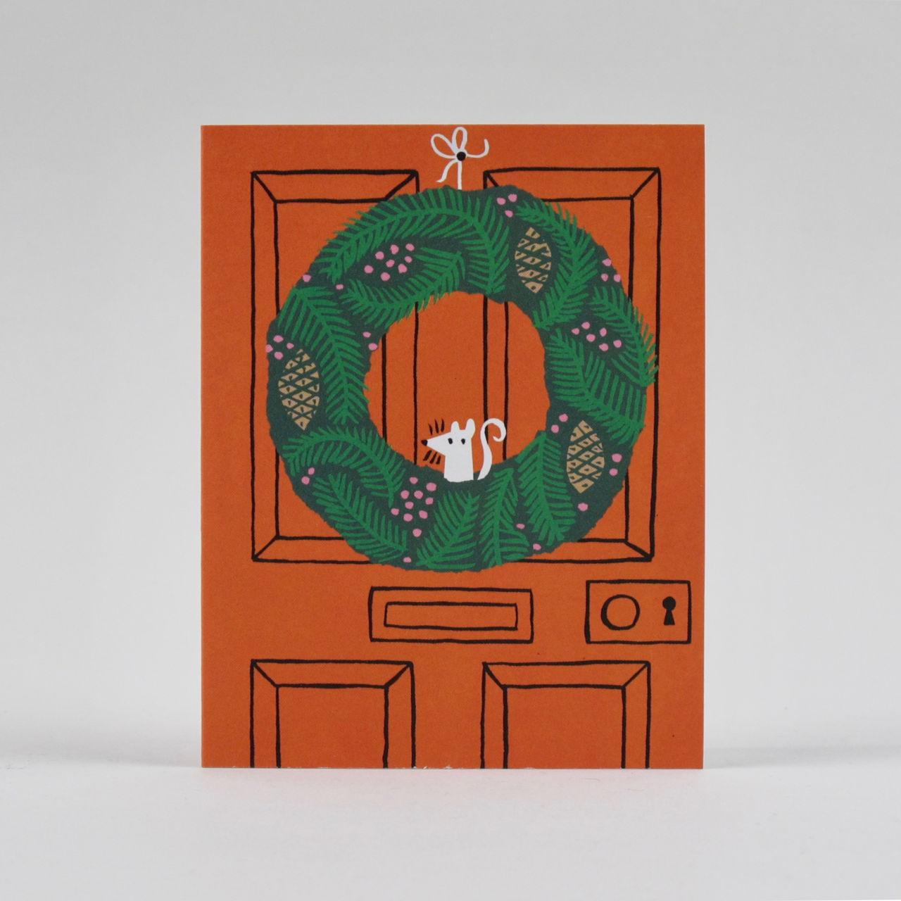 Wreath Card by Lisa Jones Studio