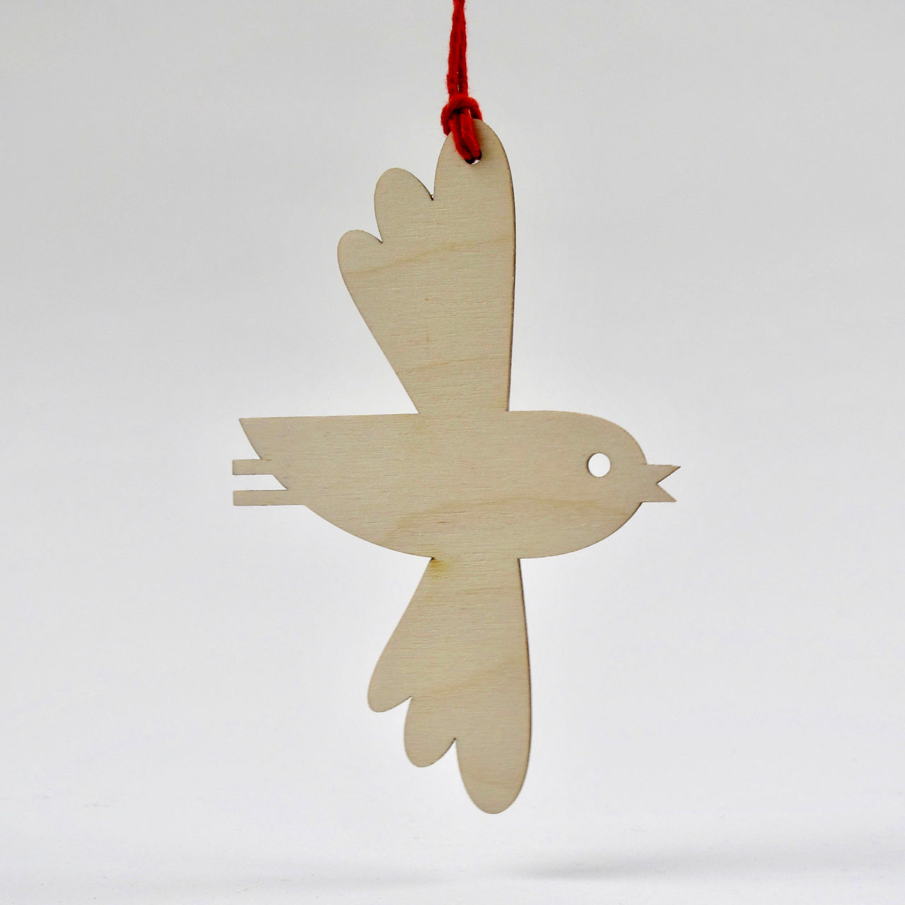Plywood hanging dove decoration