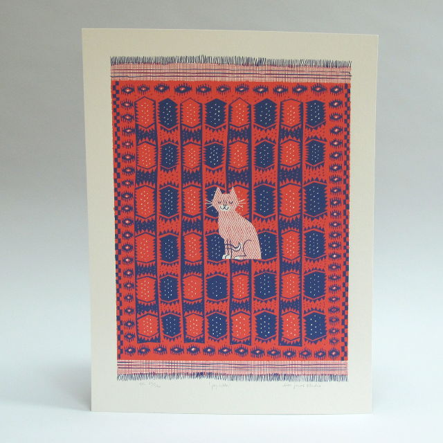 Paprika Screen Print by Lisa Jones