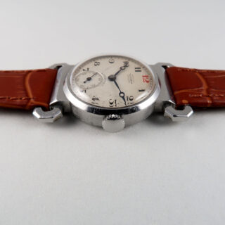 Longines Ref. 3806 retailed by Arthur Saunders, London invoiced 1938 | steel mid-size vintage wristwatch