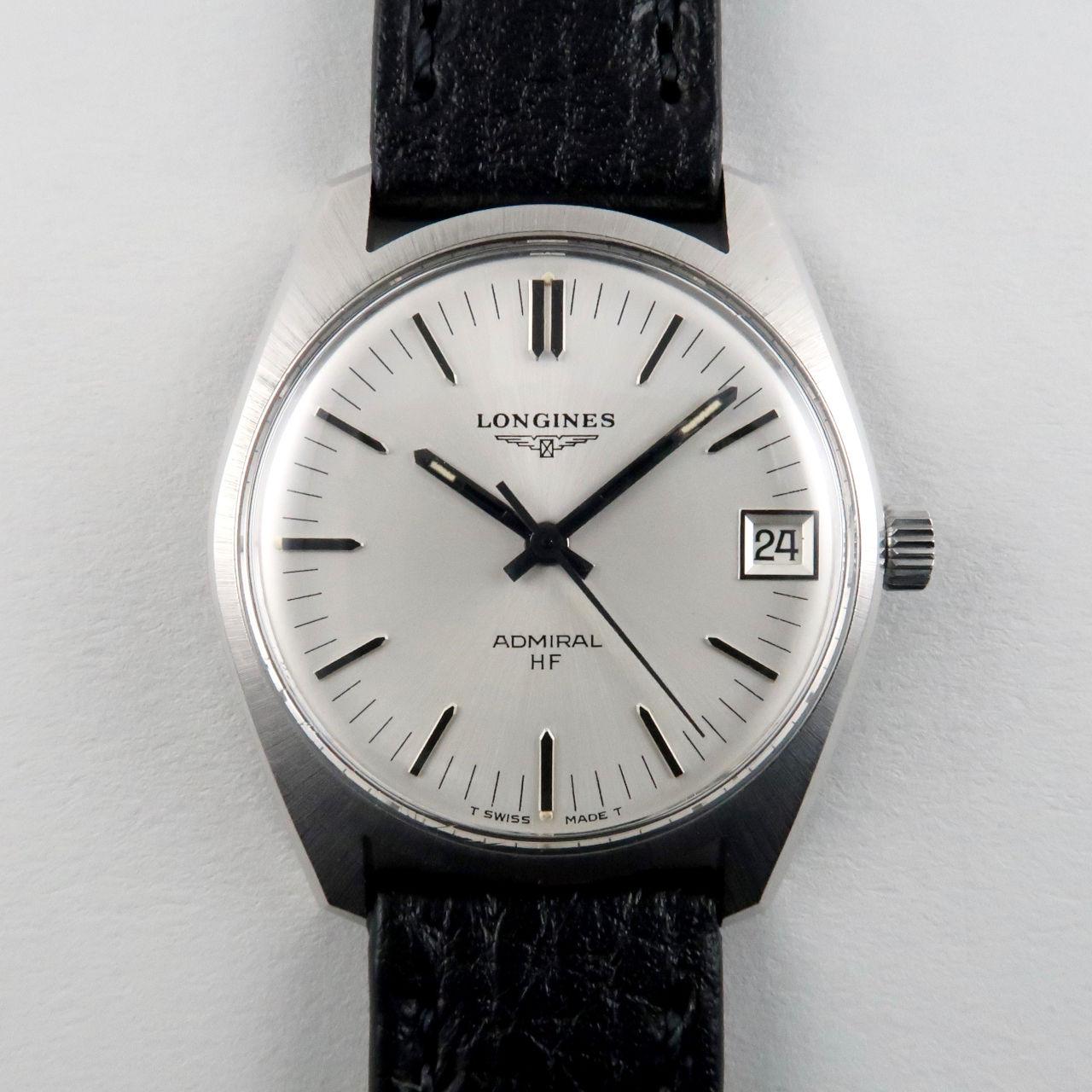 Longines Admiral HF Ref. 2302 -3 steel vintage wristwatch, circa 1973