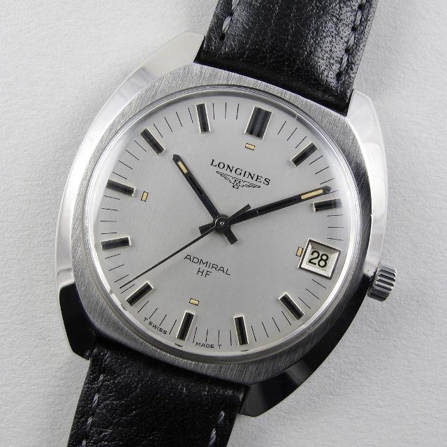 Longines Admiral HF Ref. 2304 -2 steel vintage wristwatch, circa 1973