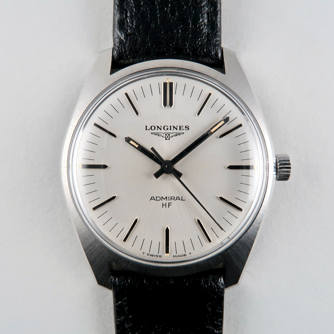 Longines Admiral Ref. 2301 -2 circa 1973   steel manual wristwatch with hack feature