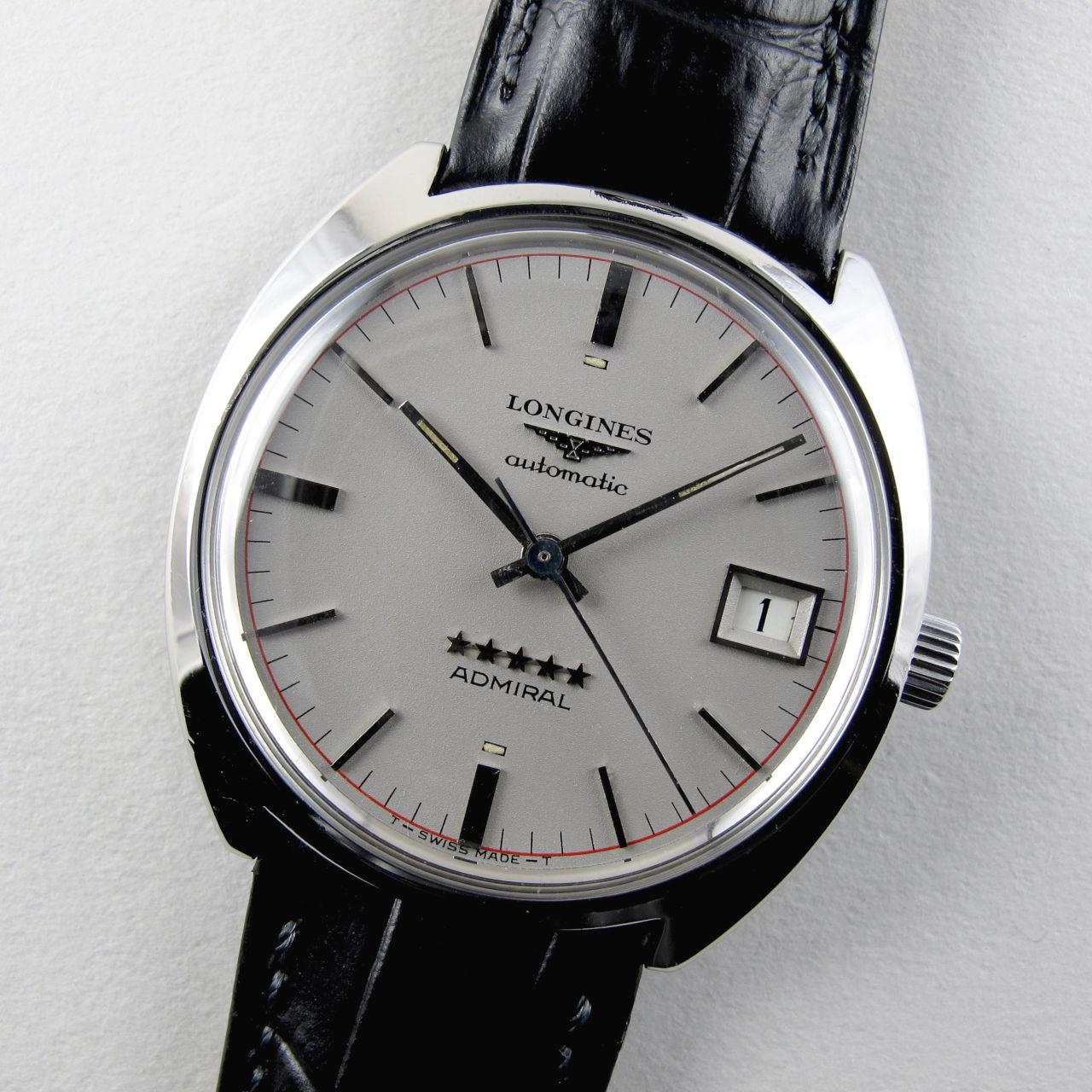 Longines Admiral Ref. 8642 -4 steel vintage wristwatch, circa 1970
