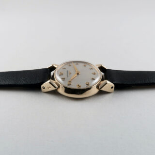 Longines cal. 14.16 invoiced 1956   9ct gold lady's hand wound vintage wristwatch