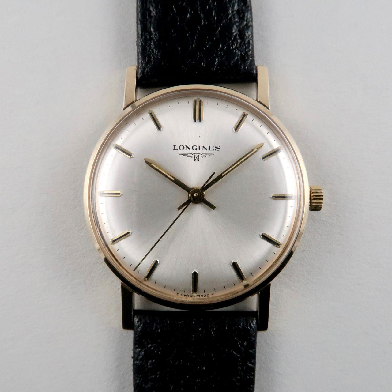 Longines Cal.284 gold vintage wristwatch, hallmarked 1970