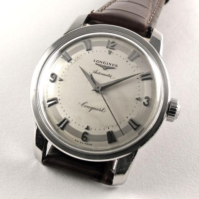 Longines Conquest Ref. 9000 -5 steel vintage wristwatch, circa 1955