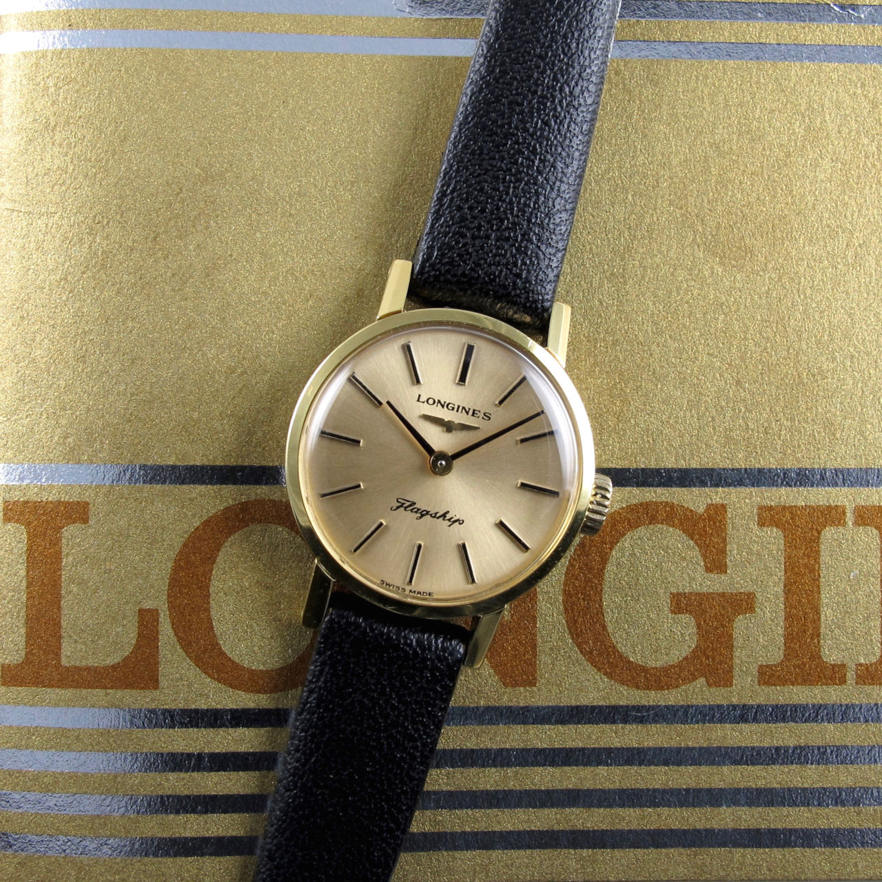 Longines Flagship Ref. 4014 -3 gold plated , circa 1975