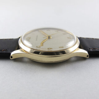 Longines Cal. 12.68ZS gold vintage wristwatch, hallmarked 1952