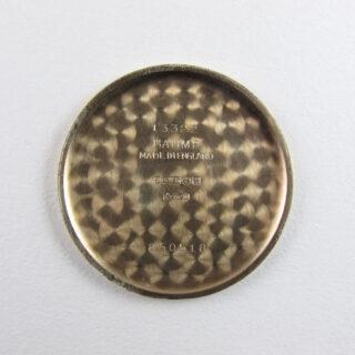 Longines gold vintage wristwatch, hallmarked 1957