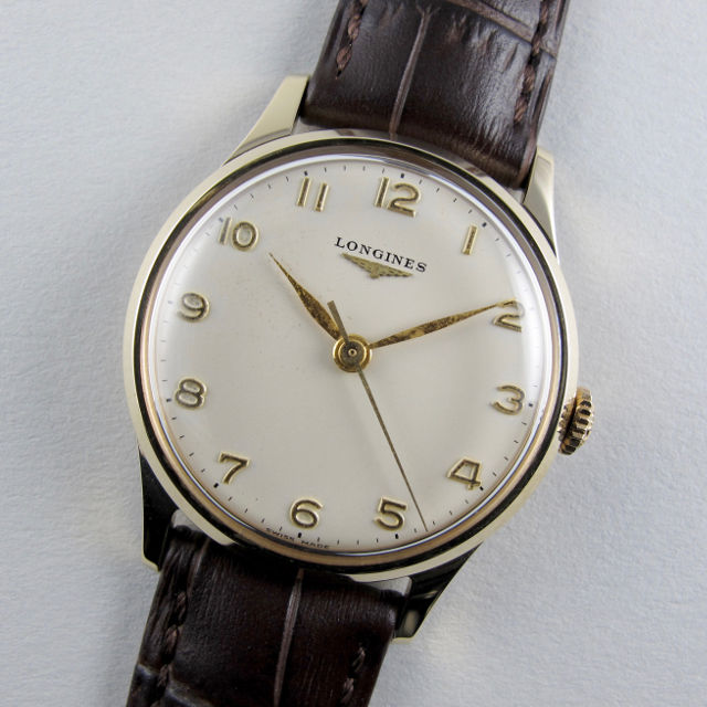Longines gold vintage wristwatch, hallmarked 1962