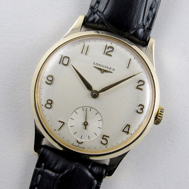 Longines gold vintage wristwatch, hallmarked 1964
