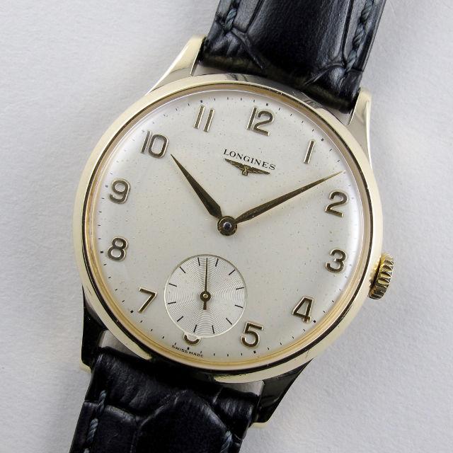 Longines gold vintage wristwatch, hallmarked 1964