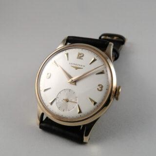 Longines Cal.30L gold vintage wristwatch, hallmarked 1964