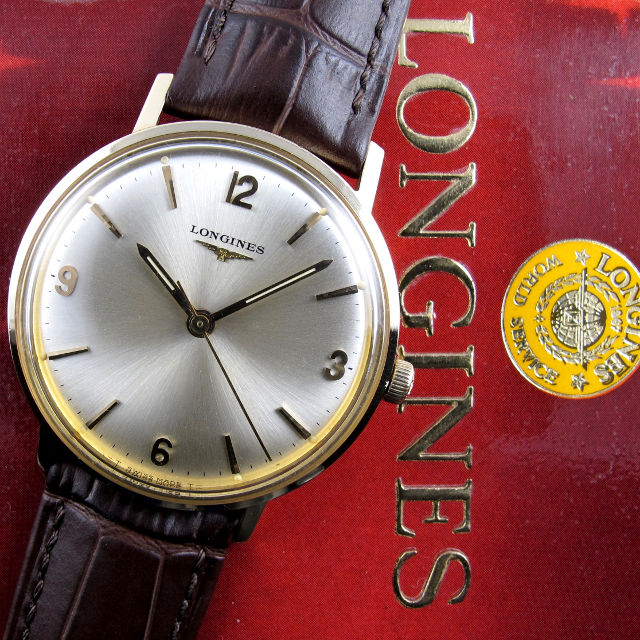 Longines Ref. 23028 gold vintage wristwatch, sold in 1972