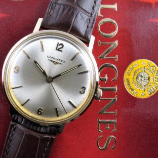 Longines Ref. 23028 gold vintage wristwatch, sold in 1972