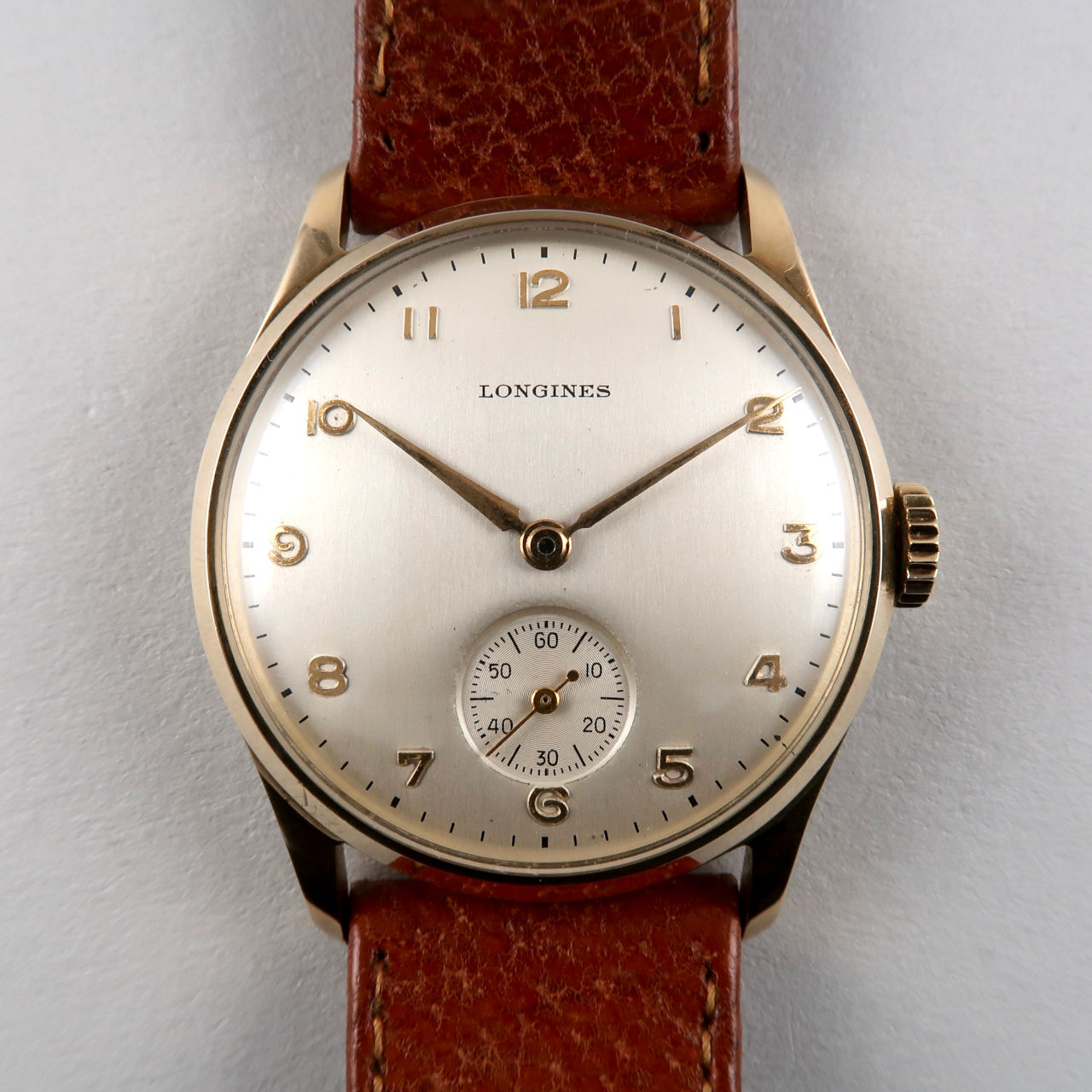 Longines Ref. 4858 invoiced 1949 | 14ct gold vintage wristwatch