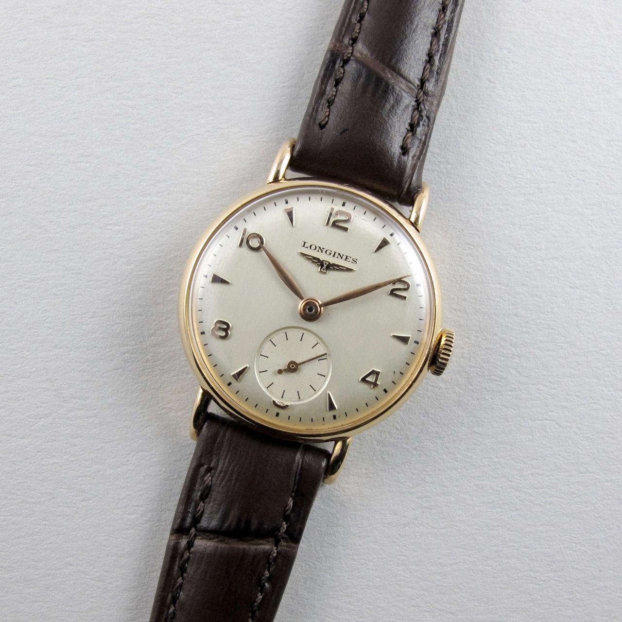 Longines Ref. 4984 -10 gold vintage wristwatch, circa 1951