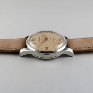 Longines Ref. 6379 Honeycomb invoiced 1955   steel automatic vintage wristwatch