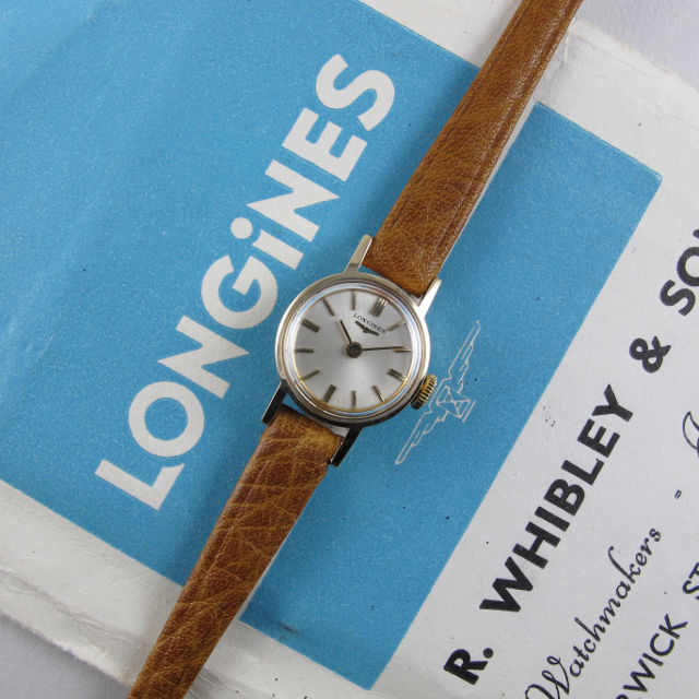Longines Ref. 6783 gold vintage wristwatch, sold in 1965