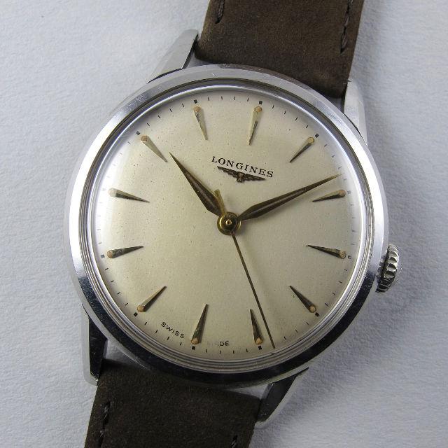 Longines Ref. 6875 -1 steel vintage wristwatch, circa 1958
