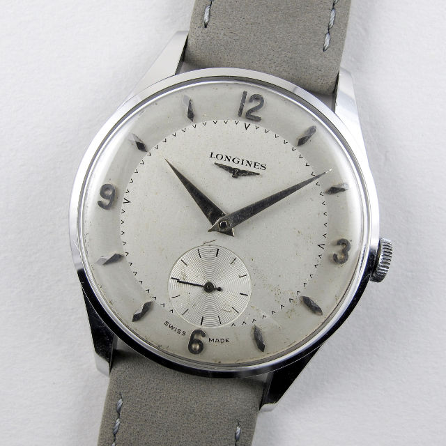 Longines Ref. 7135 steel vintage wristwatch, circa 1958
