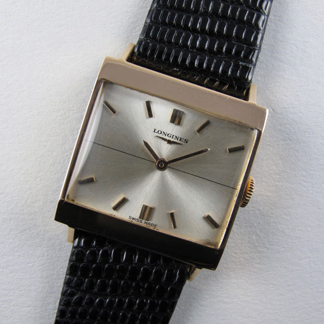 Longines Ref. 7504 -1 18ct pink gold vintage wristwatch, circa 1964