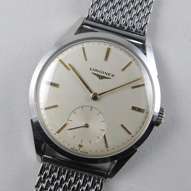 Longines Ref. 7777 -1 steel vintage wristwatch, circa 1961